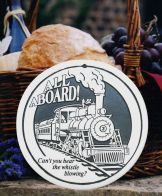 all aboard train bread warmer