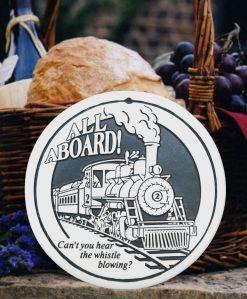 all aboard train bread warmer