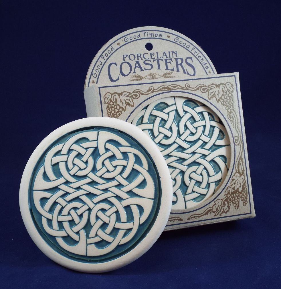 celtic knot coasters set