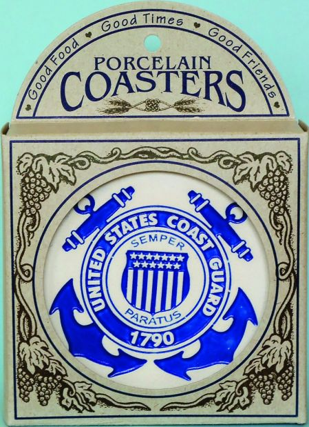 coast guard coasters in box