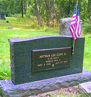 porcelain flag holder on granite memorial