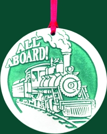 All Aboard Train Ornament