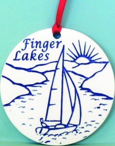 Finger Lakes Sailboat Ornament