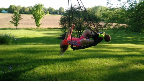 kids on the swing