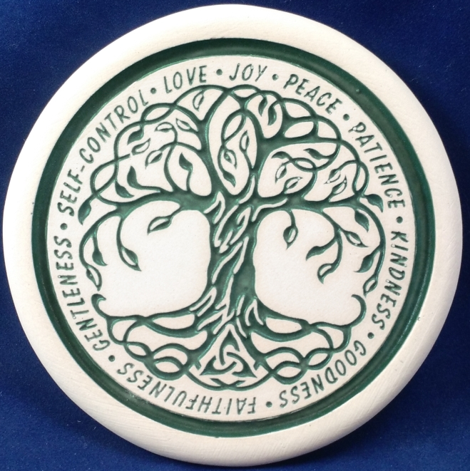 Tree coaster with fruit of the spirit